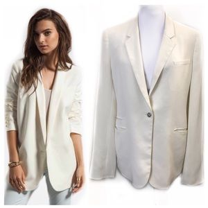 Elizabeth James 10 Cream Blazer Jacket Jewel